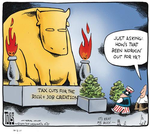 Tax cuts = jobs? Really?