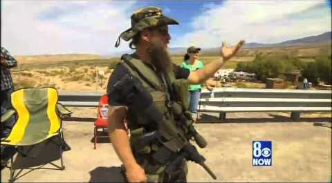 Militiaman in support of Cliven Bundy