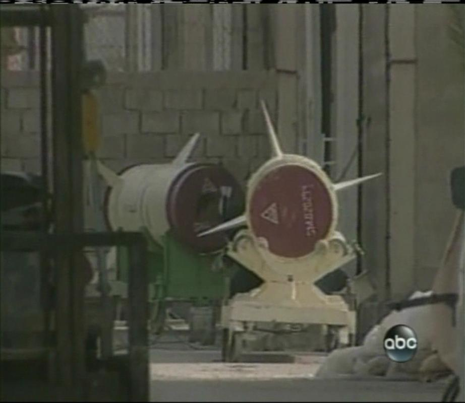 Iraqi alSamoud missiles on way to being destroyed. (Feb 2003)