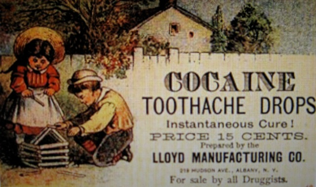 Cocaine as a toothache remedy