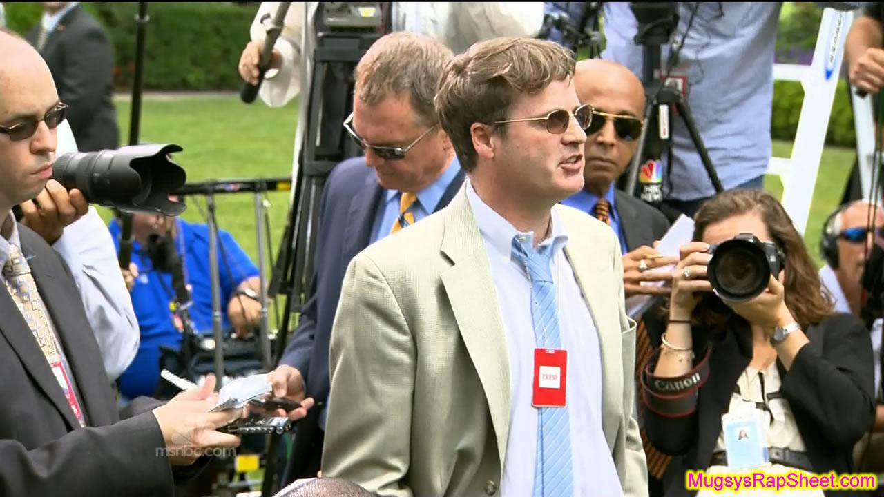 Disrespectful reporter in shades (2012)