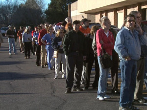 Long lines in Colorado 2012