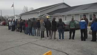 Long lines in Wisconsin 2012