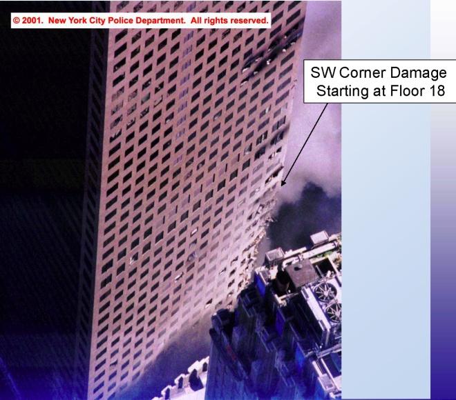 Damage to WTC-7